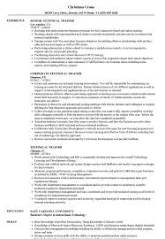 Download Technical Trainer Resume Sample As Image File