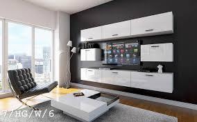 möbel für wohnzimmer weiß hochglanz future 7