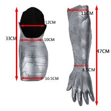 2016 New Winter Soldier Arm Captain America 3 Bucky Barnes Armour Cosplay Avengers High Level Latex Man Hot Sale In Warmers From Mens Clothing