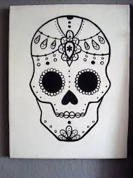 Easy Sugar Skull Day Of by Graphic Sugar Skull Painting 24 Steps With Pictures