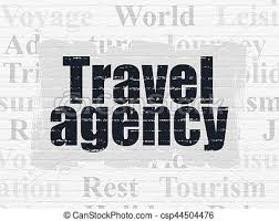 Stock Illustrations Of Vacation Concept Travel Agency On Wall