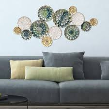 Fetco Home Decor Brinley Wall Art by Stratton Home Decor Textured Plates Metal Wall Art 101design