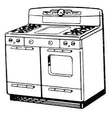 oven clipart black and white 6