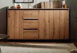 sideboard denver eiche artisan und anthrazit kommode im industrial look anrichte 3 türig 3 schubladen 160 cm