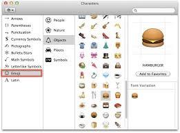 Access and Use Emoji in Mac OS X
