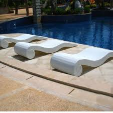 Beach Swimming Pool Outdoor Lounger Chair Wicker Rattan Sun Bed T523
