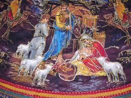 Beautiful Handmade Nativity Christmas Tree Skirt