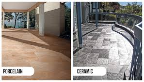 what to use outdoors porcelain tiles or ceramic tiles trini tile