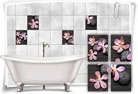 medianlux fliesenaufkleber fliesenbild blumen orchidee spa wellness aufkleber deko bad fliesen badezimmer 20x25cm fp5p3h 57495