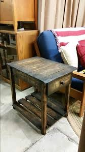 Pallet Console Reclaimed Wood End Table Foyer Entry