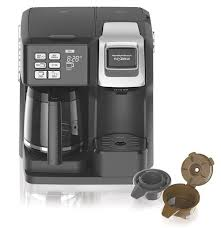 Coffee Maker With Two Brewing Spouts One For Carafe And Another Single Serve