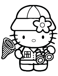 Full Image For Hello Kitty Christmas Coloring Pages Online To Do