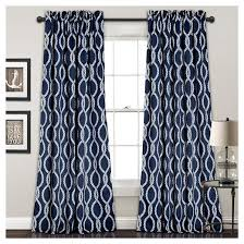 Lush Decor Window Curtains by Knot Room Darkening Window Curtain Set Navy 52