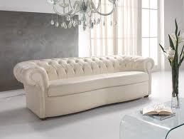design chesterfield sofa 3 sitzer weiß polster sofas wohnzimmer leder neu