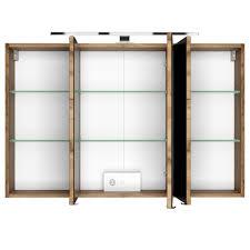 bad spiegelschrank 3 türig mit beleuchtung 100 cm breit wotan eiche