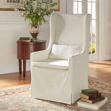HomeHills Lisle White Slipcover Wingback Host Chair Duval Wing Back Chair Beige Thrift Store Wingback Chair Linen Offeverydayclub Traditional Slipcover In Washed Linenlocal Clients Onlywing Ruffled Slipcoverwashed Linen Slipcoveryour How To Make Arm Slipcovers For Less Than 30 Howtos Diy Wingback Paris Tips Design Elegant Johnbaptistonline Summer Ottoman Upholstery Finn Slipcovered Swivel Armchair Sausalito Fniture Comfortable For Inspiring Tan Wingbacks By Shelley