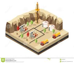 Isometric Oil Industry Template Stock Vector - Illustration Of ...