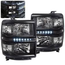 100 Chevy Silverado Truck Parts CHEVY SILVERADO 1500 2014 2015 2016 HEADLIGHT BLACK HOUSING CLEAR
