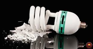 mercury containing lightbulbs contaminate the home and the