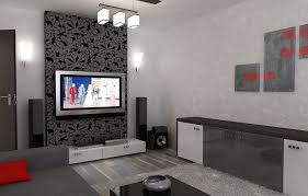 bilder 3d interieur wohnzimmer rot grau 4