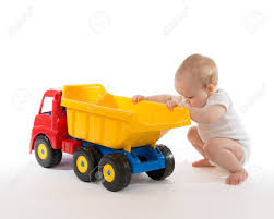 100 Big Truck Toys Infant Child Baby Boy Toddler Happy Sitting With Big Toy Car