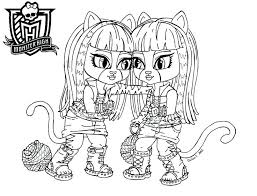 Monster High Color Pages Printable Free Coloring Media Gallery Of Art Characters At Best All Tips