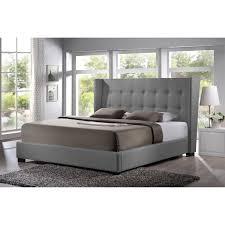 baxton studio favela upholstered platform bed com and tufted king