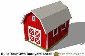 Free 12x16 Gambrel Shed Material List by 12x16 Gambrel Shed Plans 12x16 Barn Shed Plans