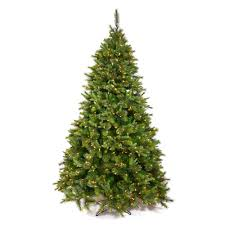 45 Foot Cashmere Pine Artificial Christmas Tree 250 DuraLit LED M5 Italian Warm White Mini Lights