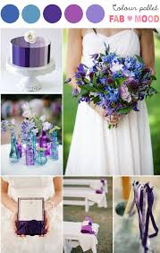 Purple Blue Wedding Colors Theme