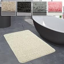 badezimmer teppich einfarbig hochflor rutschfest in versch größen u farben grösse 40x55 cm farbe pink