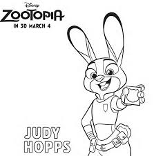 Zootopia Coloring Pages Judy Hopps Page