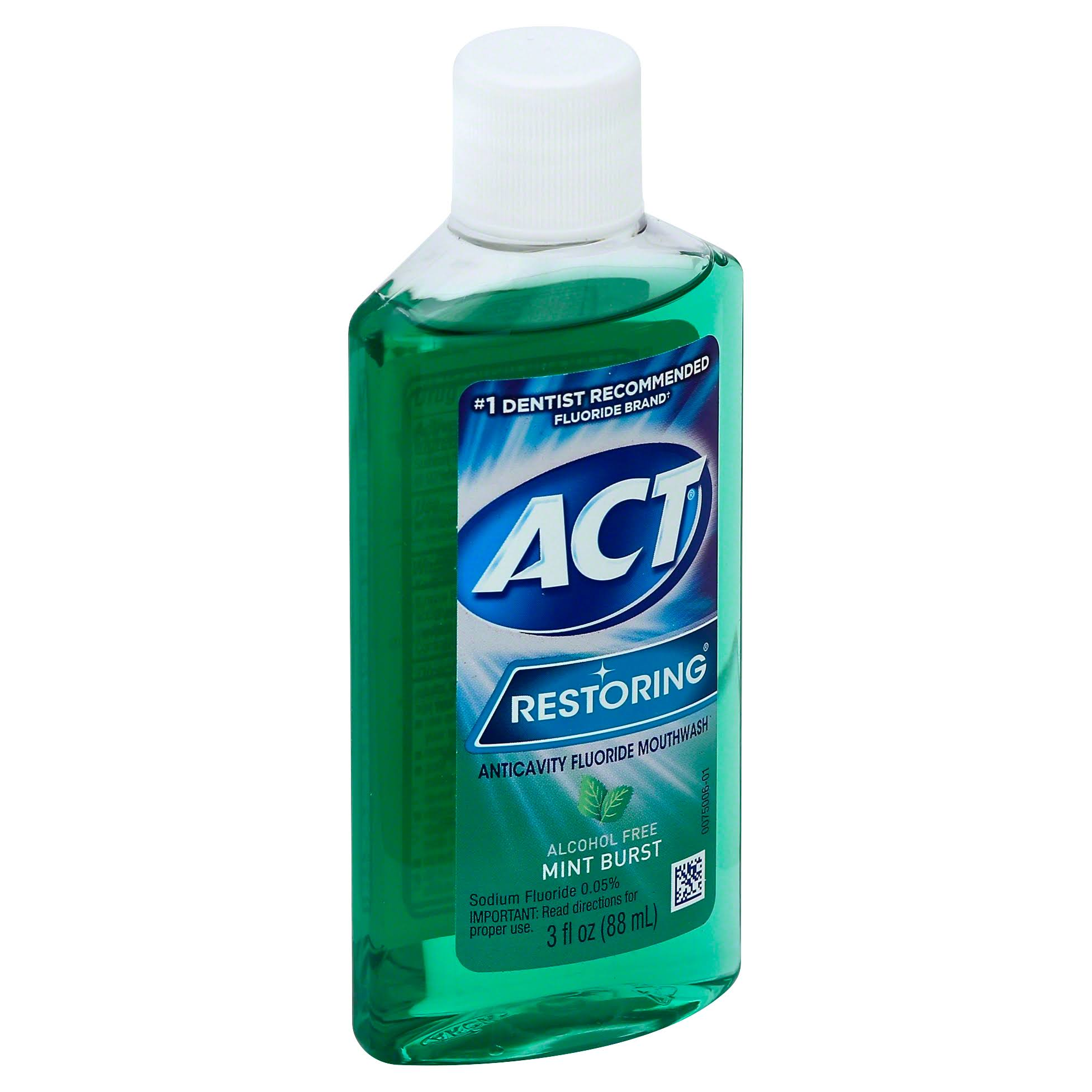 ACT Restoring Anticavity Fluoride Mouthwash - Mint Burst, 3oz