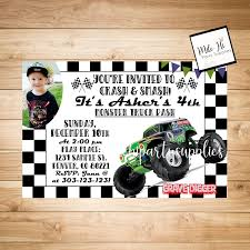 Monster Truck Birthday Party Invitation With Photo In 2019 | Evan ... Monster Truck Party Printables Set Birthday By Amandas Parties Invitation In 2018 Brocks First Birthday Invite Car Etsy Fire Invitations Tonka Envelopes Engine Online Novel Concept Designs Jam Free British Decorations Supplies Canada Open A The Rays Paxtons 3rd Party Trucks 1st 2nd 4th Ticket Iron On Blaze And The Machines Baby Shark Song Printable P