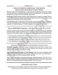 Vice President Of Operations Food Service Resume Sample
