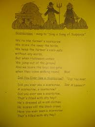 Poems About Halloween Night by Patties Classroom Fall Acrostic Poetry And Scarecrows