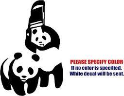 vinyl decal sticker wwf panda chair car car truck bumper window