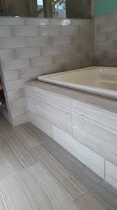 Tiling A Bathtub Skirt by Fiandre Bronzage 4x12 Glossy Tile On Walls Msi Eramosa Gray On