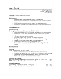Resume Templates For Kitchen Helper ResumeTemplates