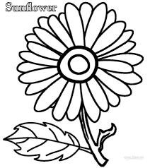 Printable Sunflower Coloring Pages For Kids At