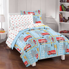 Dream Factory Fire Truck Bed In A Bag Comforter Set,Blue | EBay