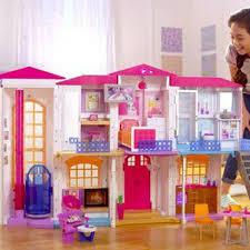 Diy Dollhouse Miniature Doll House Furniture Kit Led Kids Cat