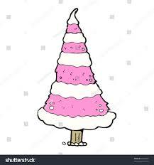 Flocked Christmas Trees Kmart by Pink Christmas Tree Cartoon Stock Vector 73328524 Shutterstock