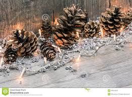 Pine Cone Christmas Tree Lights by Christmas Lights With Pine Cones Stock Photo Image 46624228
