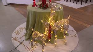 Qvc Pre Lit Christmas Trees by Indoor Outdoor Prelit Crystal Splendor Doe And Fawn By Valerie On