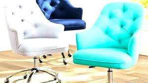 Aqua Blue Desk Chairs Oval Modern Plastic