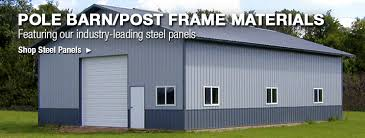 Metal Loafing Shed Kits by Pole Barn Post Frame Materials At Menards