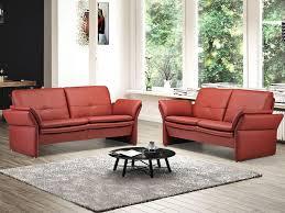sofa floris leder rot möbel waeber webshop