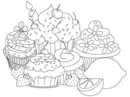 Cupcake Coloring Pages To Print Inspirational Coloring For Adults