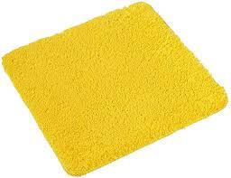 pana badematte polyester gelb wc vorleger 45x45cm